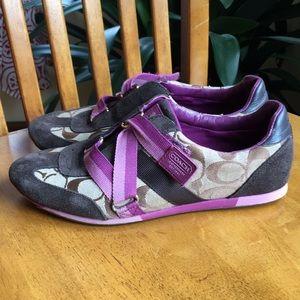 Coach Juli Vintage styles Velcro sneakers